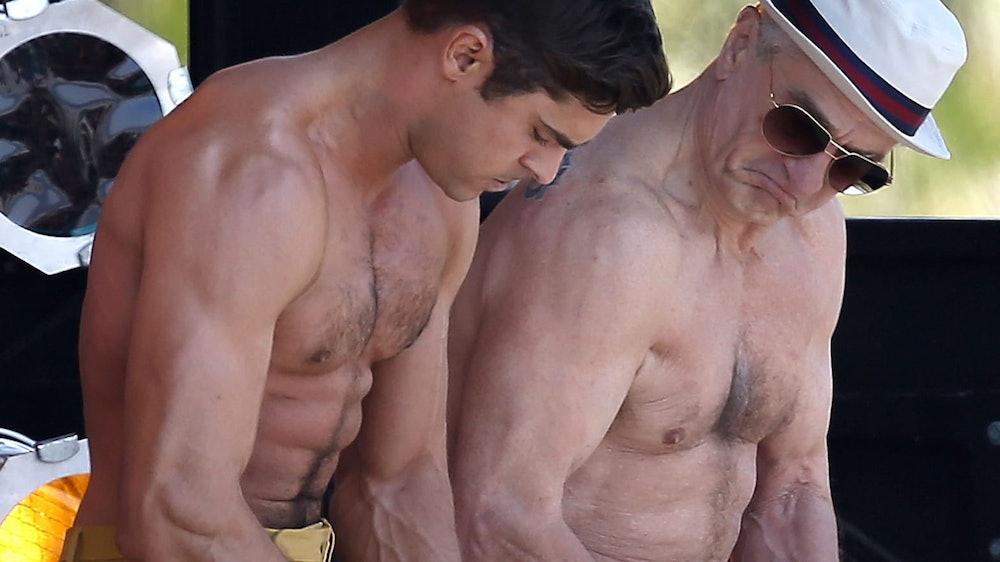 men comparing muscles muscle dysmorphia