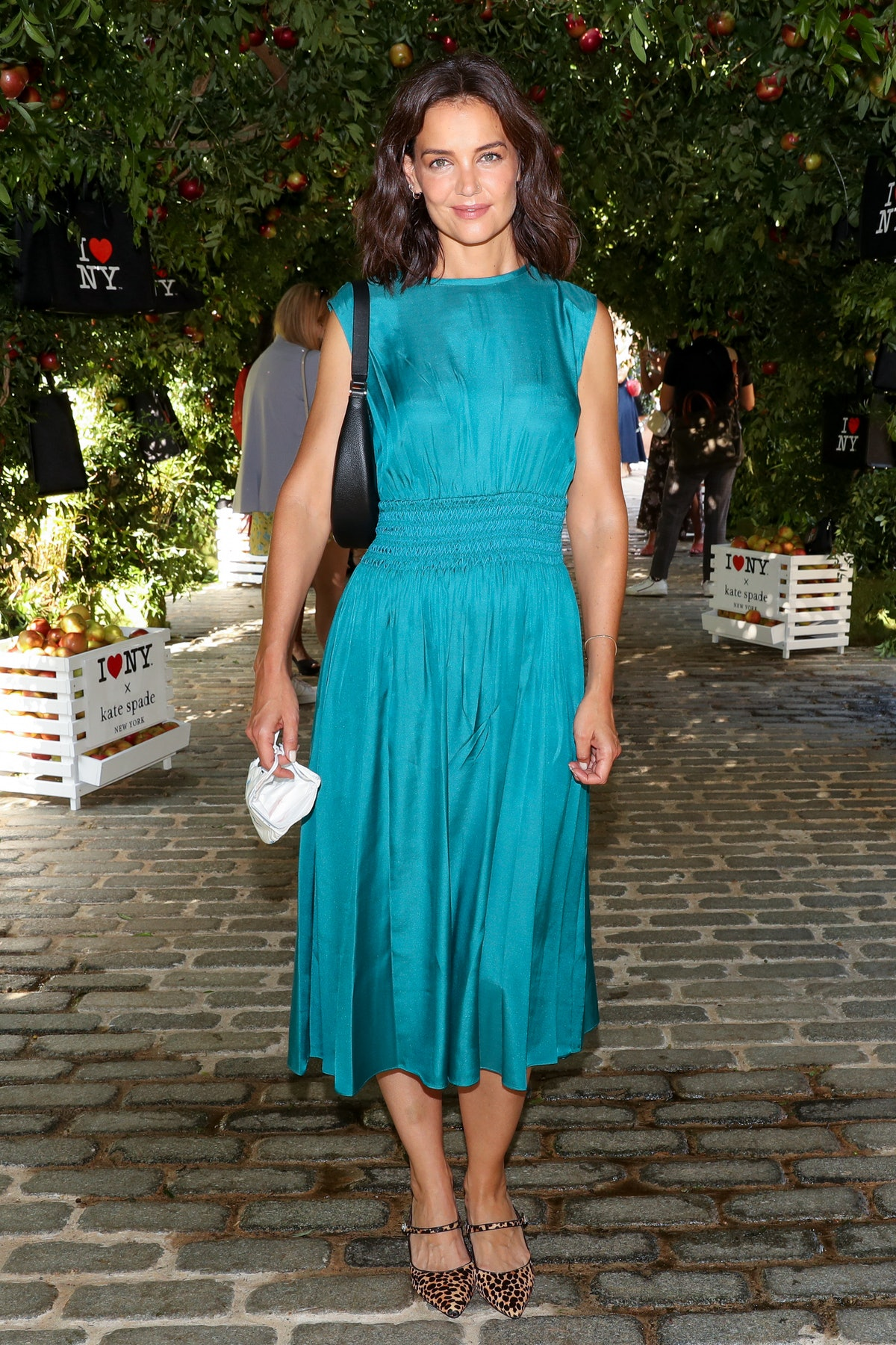 Katie Holmes at Kate Spade NYFW in September 2021.
