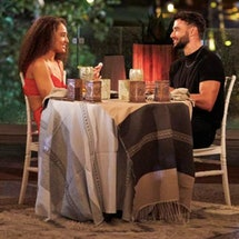 Pieper James and Brendan Morais on a date on Bachelor in Paradise.