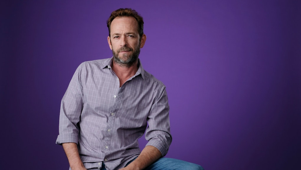 "Luke Perry, a cast member in the CW series ""Riverdale,"" poses for a portrait during the 2018 Television Critics Association Summer Press Tour, in Beverly Hills, Calif"
