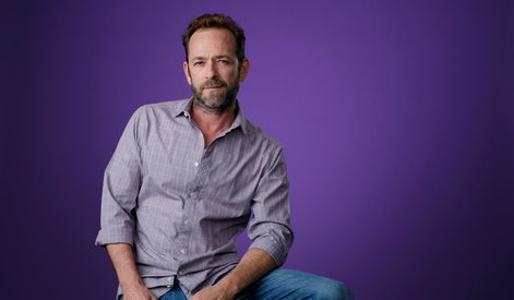 """Luke Perry, a cast member in the CW series """"Riverdale,"""" poses for a portrait during the 2018 Television Critics Association Summer Press Tour, in Beverly Hills, Calif"""