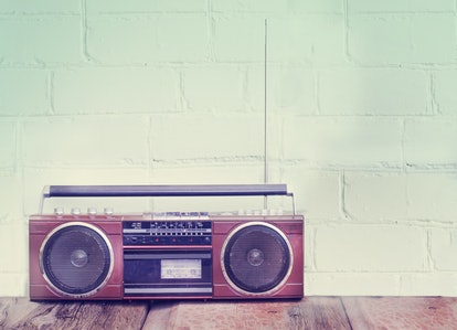 Music stereo in a house running Alexa playlists