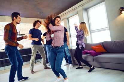 Ask Alexa to play Amazon's 50 Great Pop Songs of the 2000s playlist to set the mood for a party.