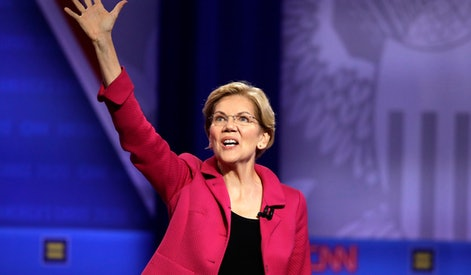 Democratic presidential candidate Sen. Elizabeth Warren, D-Mass., speaks during the Power of our Pride Town Hall, in Los Angeles. The LGBTQ-focused town hall featured nine 2020 Democratic presidential candidates