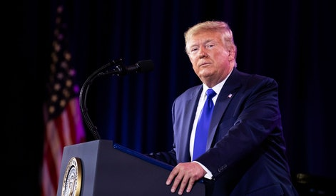 President Donald Trump speaks at the Values Voter Summit in Washington