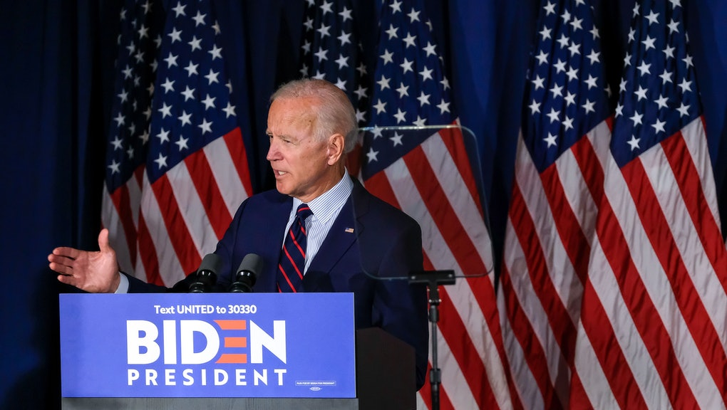 US Vice President Joe Biden speaks at a campaign event in The Governor's Inn