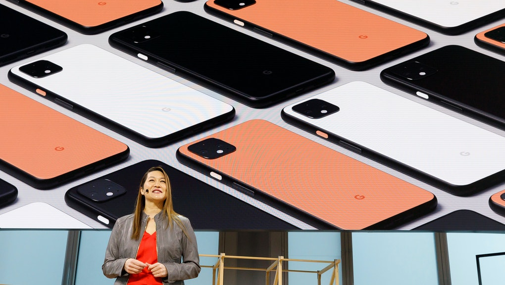 Google Vice President of Product Management Sabrina Ellis introduces the new Google Pixel 4 phone, during a Google product launch event called 'Made by Google '19' in New York, New York, USA, 15 October 2019. The company introduced a number of new products at the event including a new phone, a new laptop, earbuds, and a new smart speaker.