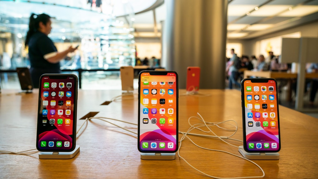 Apple's new iPhone 11, iPhone 11 Pro and iPhone 11 Pro Max displayed at an Apple retail store at the IFC Mall in Pudong New Area, Shanghai. Apple launched sales of its latest iPhone 11 series in China.