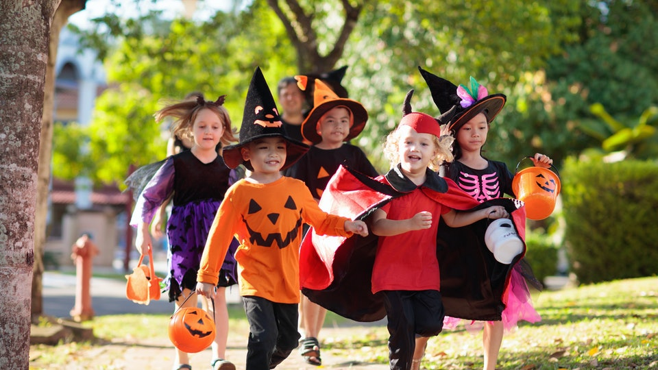 Let trick or treaters know you're open for business by lighting your porch for kids to see as they pass by.