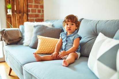 Toddlers often have pot bellies that stick out because of undeveloped abdominal muscles.