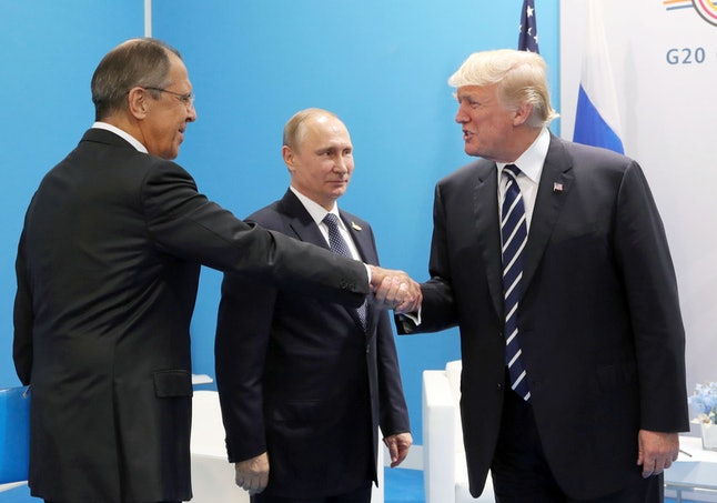 Vladimir Putin, Sergei Lavrov and Donald J. Trump