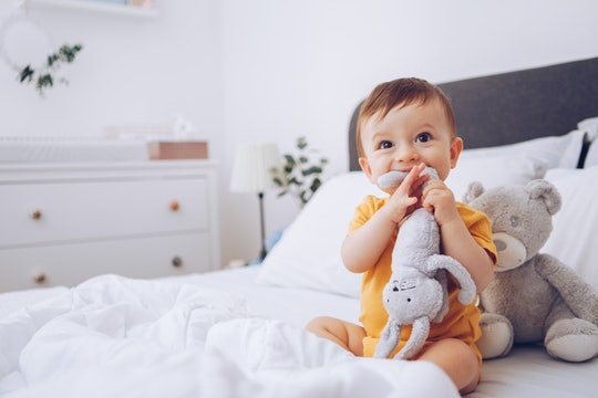 A baby may become more attached to a lovey that has mom's scent.