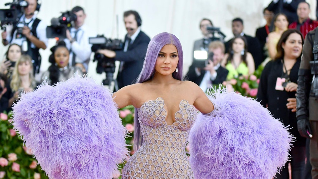 """Kylie Jenner attends The Metropolitan Museum of Art's Costume Institute benefit gala celebrating the opening of the """"Camp: Notes on Fashion"""" exhibition in New York. Jenner has been hospitalized with an undisclosed illness and will have to skip a planned cosmetics rollout at Paris Fashion Week. The 22-year-old social media star and makeup mogul said on Twitter, that she's """"really sick and unable to travel"""