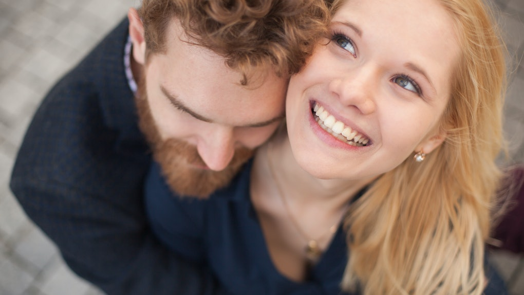 loving couple laughing