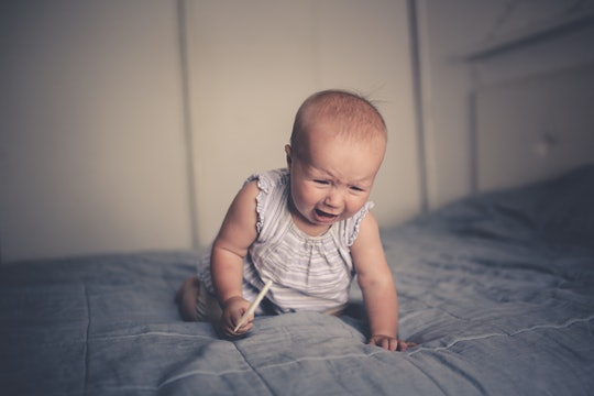 A baby suddenly screaming for no reason is a baby overwhelmed, experts say.