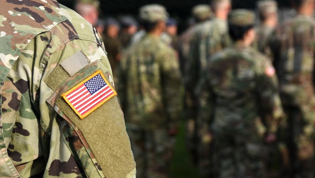 American Soldiers. US Army. US troops