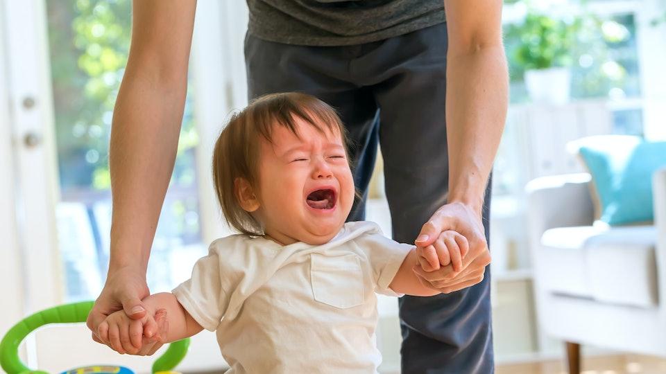 Toddler boy having a tantrum