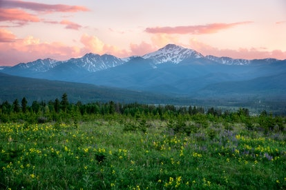 Byers Peak is a highly visible mountain to the west of Fraser, Colorado, which is an ideal winter getaway destination.