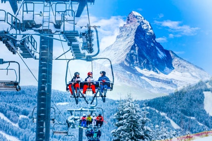 Zermatt, Switzerland is a perfect winter getaway destination with the Matterhorn in view.