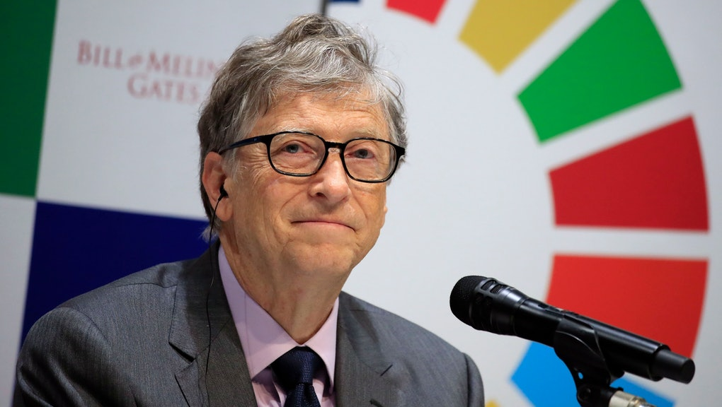 Bill Gates, co-Chairman of the Bill Gates Foundation, attends a press conference in Tokyo, Japan, 09 November 2018. The Japan Sports Agency and the Bill Gates Foundation announced a new partnership to utilize the momentum of the Olympic and Paralympic Games Tokyo 2020 to increase awareness of the Sustainable Development Goals (SDGs) with the launch of the 'Our Global Goals' campaign in 2019.