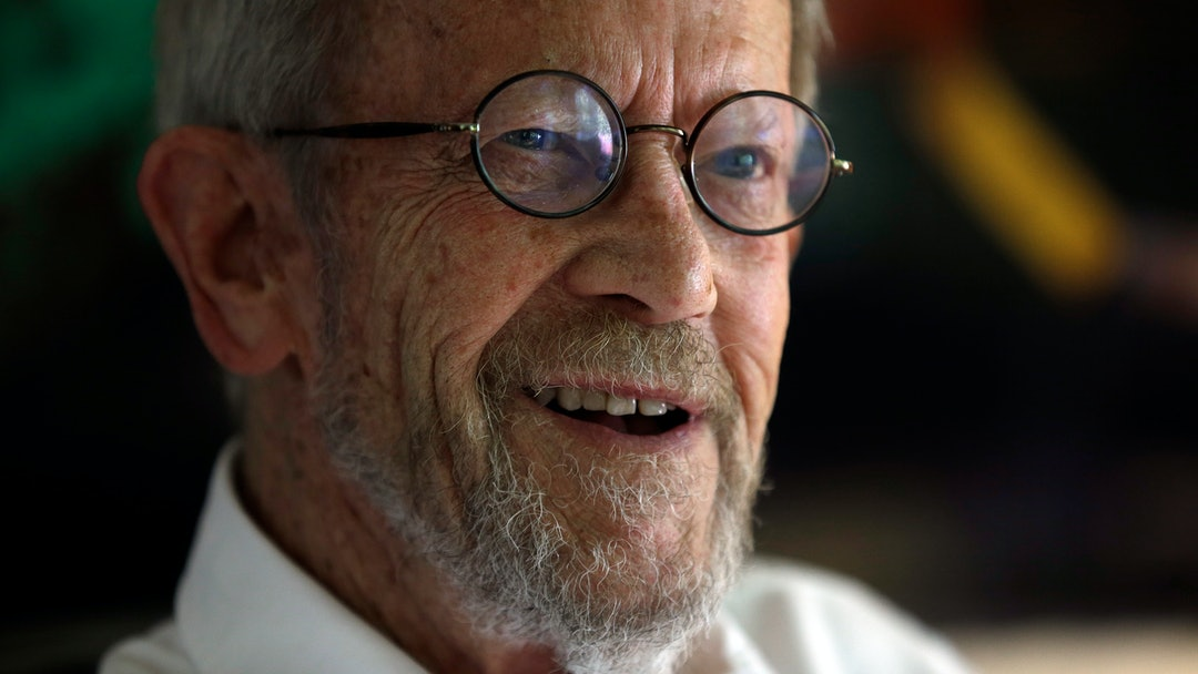 Elmore Leonard Shows author Elmore Leonard at his Bloomfield Township, Mich., home. Leonard, the crime novelist whose acclaimed best-sellers and the movies made from them, died Aug. 20, 2013 from complications from a stroke. He was 87