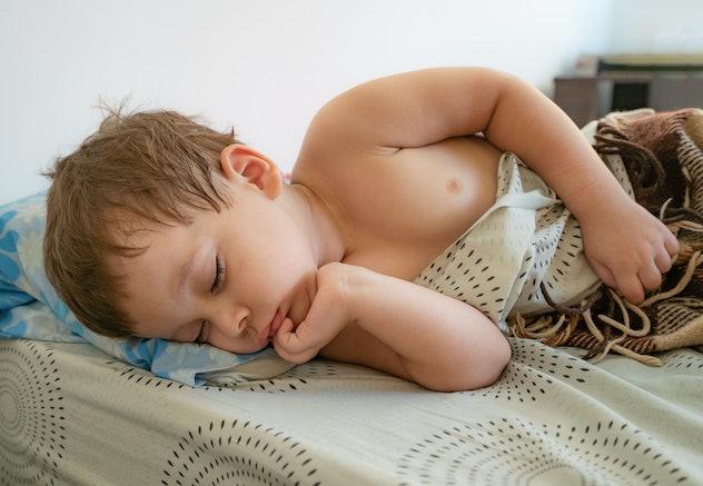 portrait of a sleeping child