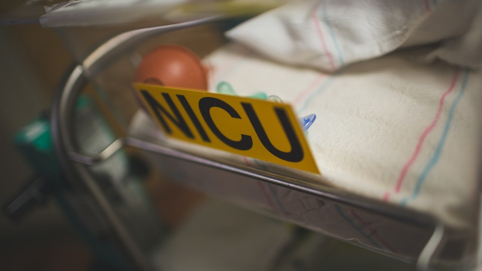 NICU Bassinet in Hospital for Newborn