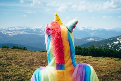 Unicorns are a popular Halloween costume.