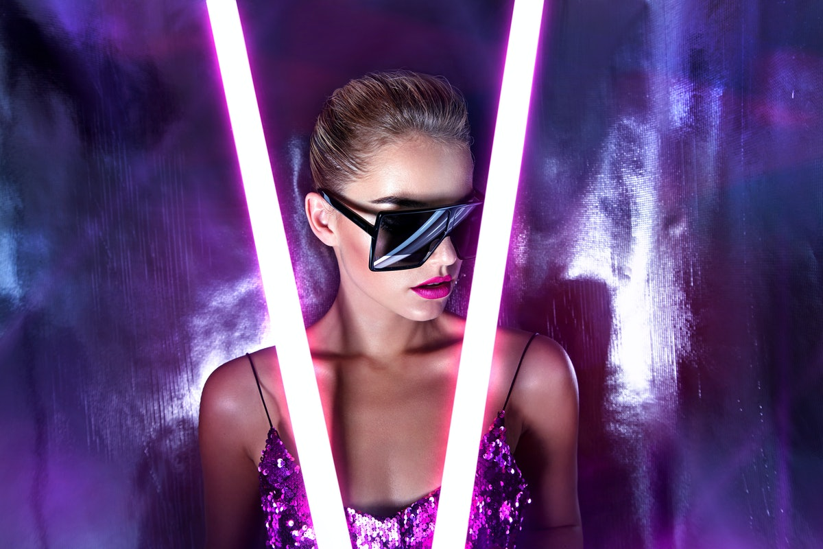 A pink, neon alien costume for Halloween 2019 is so clever.