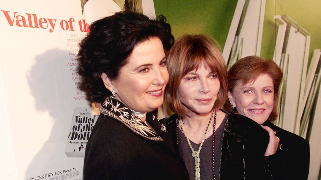 """PARKINS GRANT DUKE Barbara Parkins, Lee Grant and Patty Duke, left to right, three original cast members from the 1967 film of the Jacqueline Susann novel """"Valley of the Dolls,"""" reunited in New York, Wednesday evening, for a screening and panel discussion of the movie by cable's American Movie Classics"""