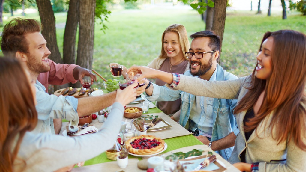If you're seeing an ex at Friendsgiving, experts say to consider bringing a date — even if it's just a friend.