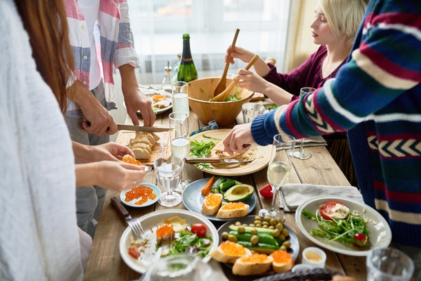 If you're seeing your ex at Friendsgiving, avoid talking about your relationship.