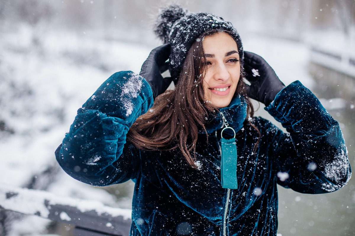 Snow girl portrait