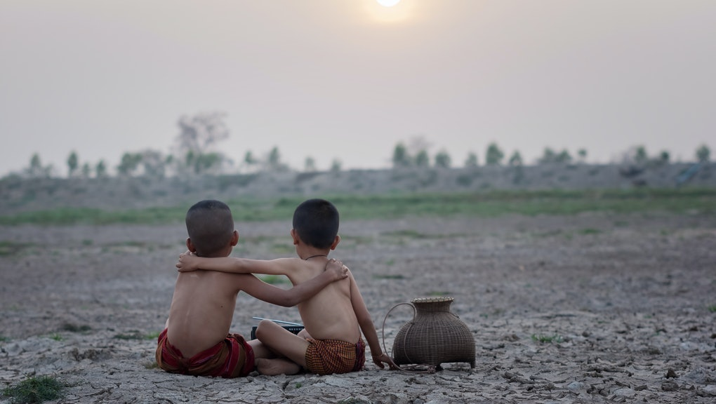 Children with drought