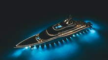 Yacht Anchored At Night