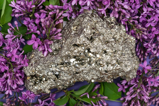 Pairing a pyrite crystal  like this with warm essential oils can help attract wealth.
