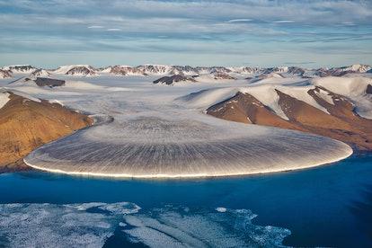 Elephant foot glacier in North Greenland
