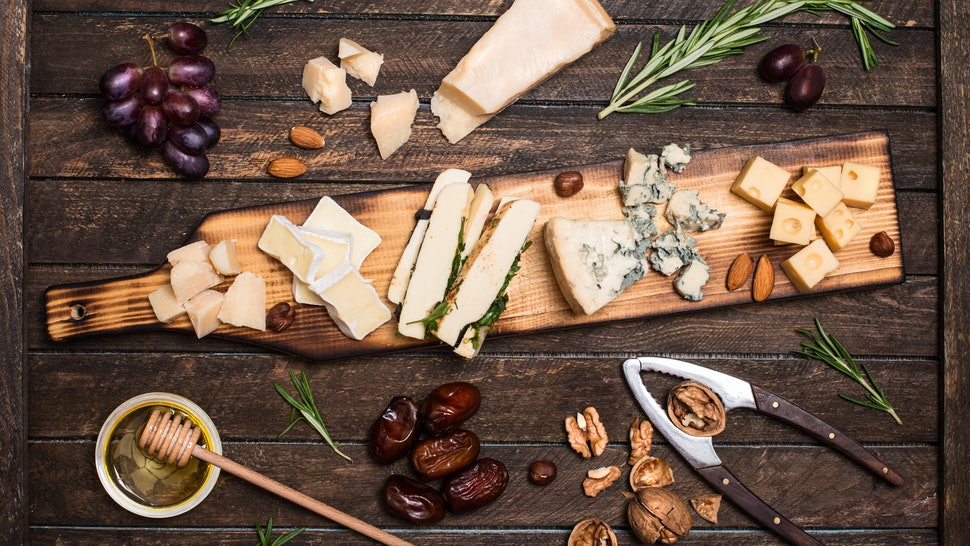 Costco's cheese platter has five different types of cheeses, perfect for your next holiday party.