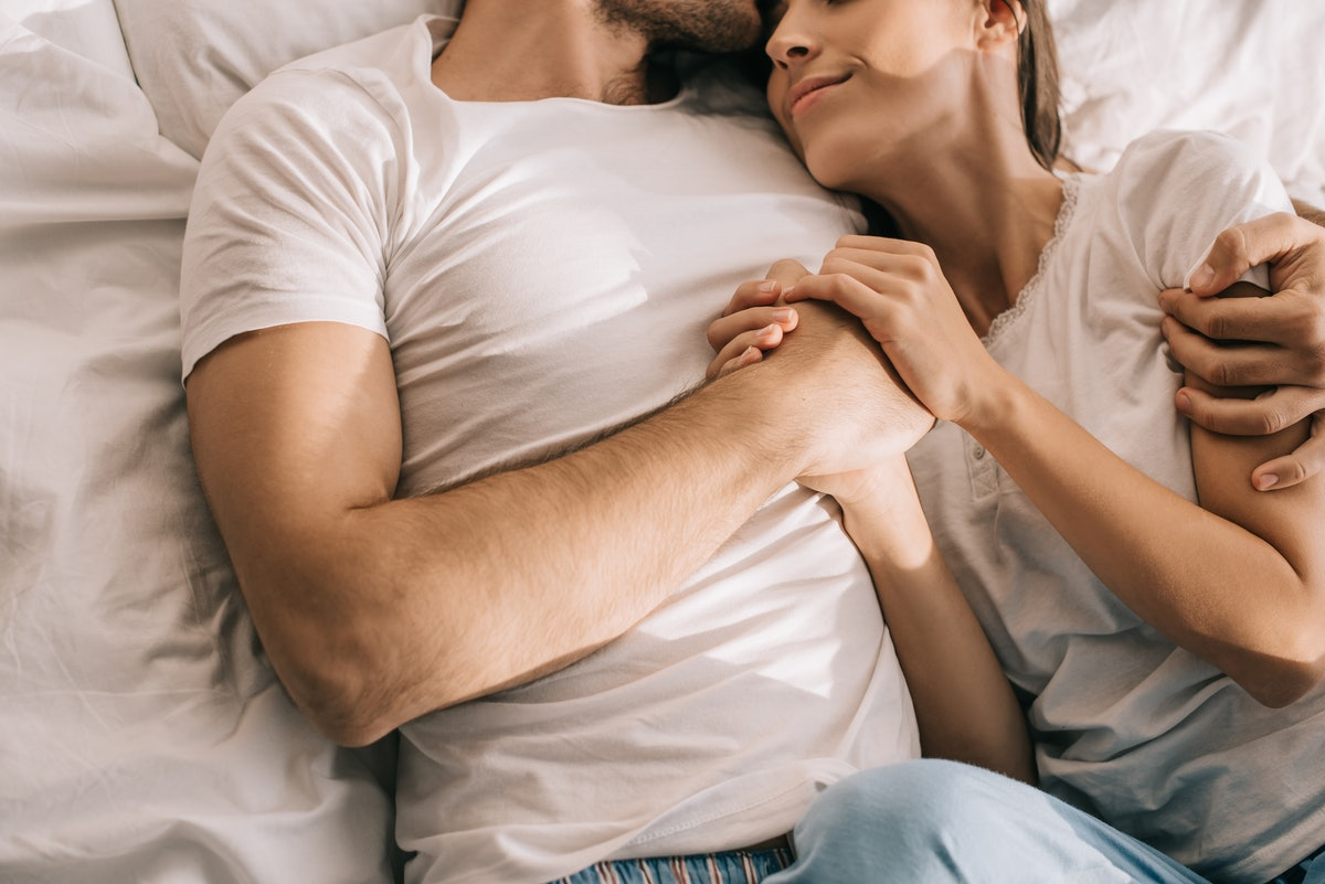 Woman whose partner can't get hard comforts him