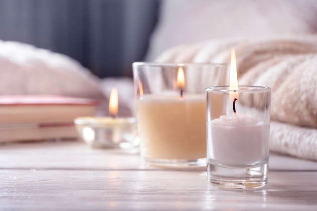 how to get turned on quickly idea; scented candles burning in bedroom