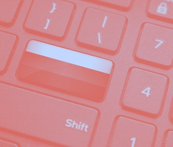 Close up of Russian Flag on computer keyboard