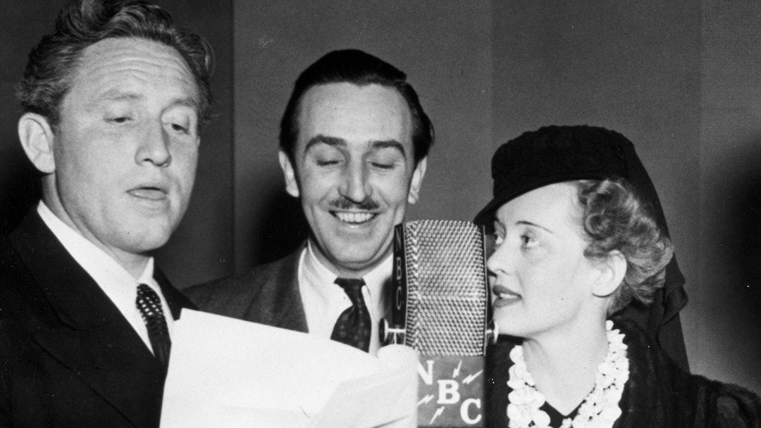 FILM STILLS OF 1938, BROADCASTING (RADIO), BETTE DAVIS, WALT DISNEY, SPENCER TRACY IN 1938