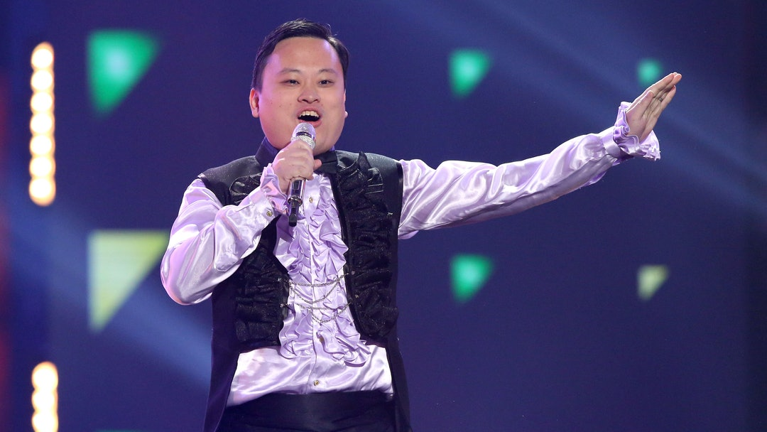 """William Hung performs at the """"American Idol"""" farewell season finale at the Dolby Theatre, in Los Angeles"""