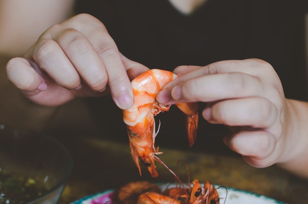 A picture of grilled prawn, fresh from the farm.