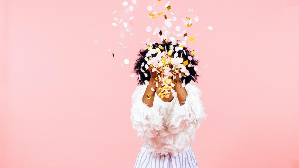 Confetti throw- celebrate happiness