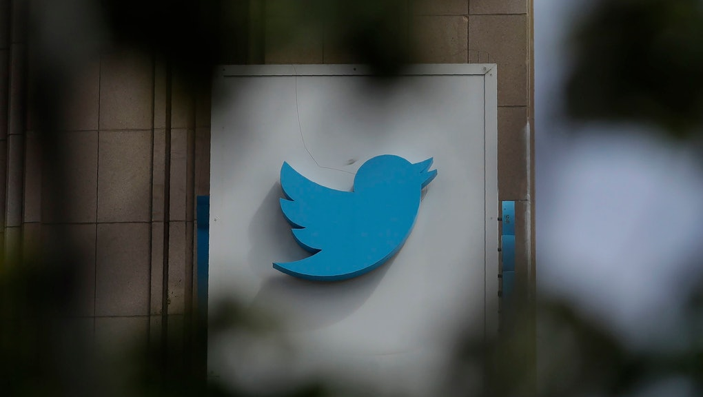 A sign outside of the Twitter office building in San Francisco. The Saudi government recruited two Twitter employees to get personal account information of their critics, prosecutors said