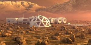 This strange biomaterial could be the basis of homes on Mars