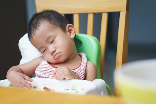 If your baby falls asleep in the middle of a meal, experts say they could just be in a routine of eating and sleeping.