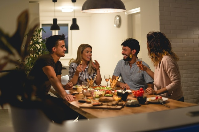 A small dinner party is the perfect way to spend a birthday when you're a Capricorn.
