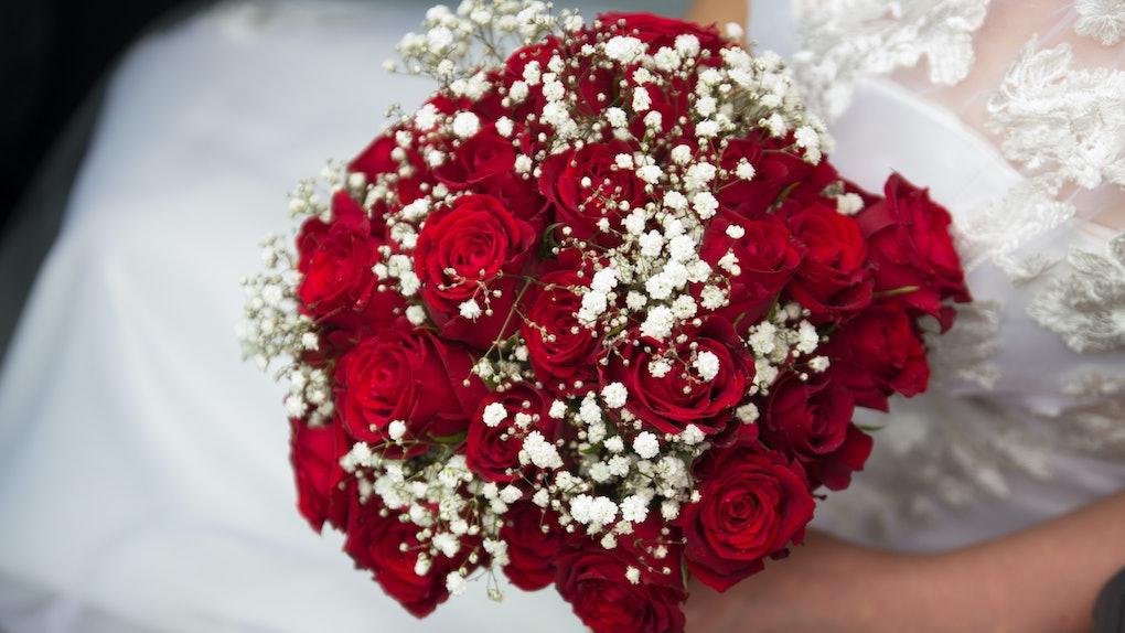 Wedding celebration with red theme